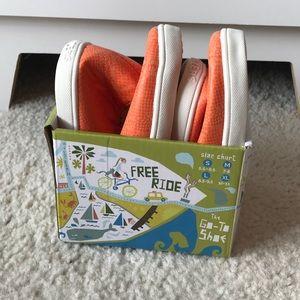 Orange Kruzers (foldable Shoes)